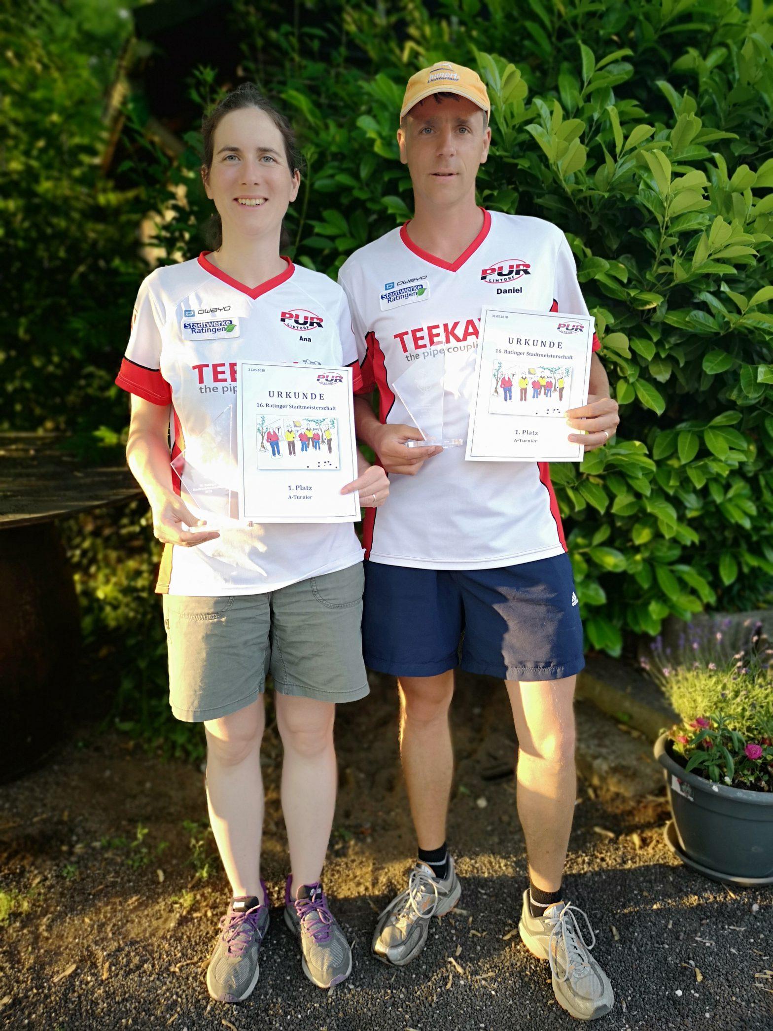 Sieger 16. Ratinger Stadtmeisterschaft (Ana und Daniel Casado)